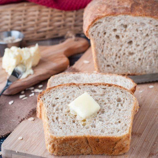 Chef Michael Smith's country bread is our favourite loaf of bread to bake at home! Easy to make, almost no prep time and it's healthy!