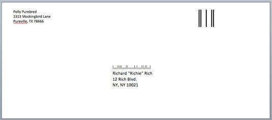 Envelope Template For Word How To Address Envelopes In Word 2008 For Mac Dummies Envelope Template Envelope Addressing Template Envelope Design Template