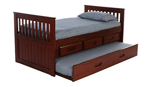 Discovery World Furniture With 3 Drawers And Twin Trundle Rake Bed
