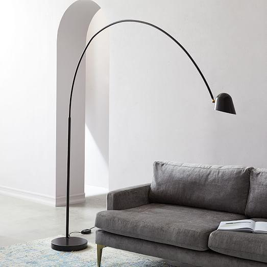 Led Overarching Boom Arm Floor Lamp Westelm Floor Lamp Design