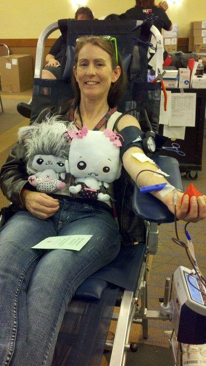 #SDCC2012 Blood Drive. #Vamplets #SDCC #ComicCon #VamPets #Plush #Howliss #LilyRose