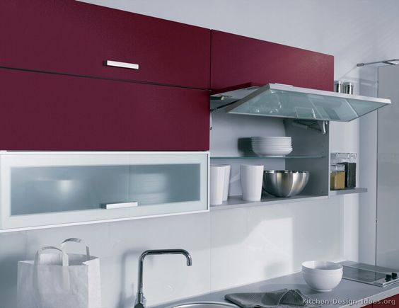 Kitchen idea of the day red kitchen by alno ag with for Alno kitchen cabinets