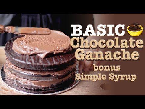 Resep Krim Coklat Ganache Bonus Resep Simple Syrup Chocolate Ganache Recipe Youtube Chocolate Ganache Bahan Bahan Kue Resep Makanan