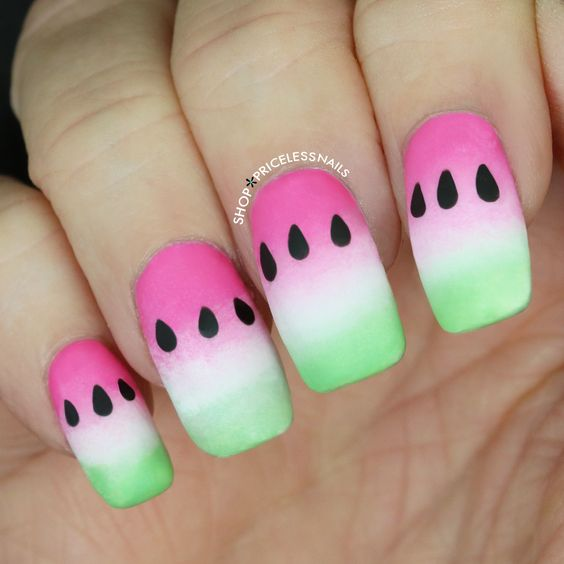 Craving summer & these watermelon nails! ✨