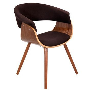 Vintage Mod Dining Chair Wood/Brown - LumiSource