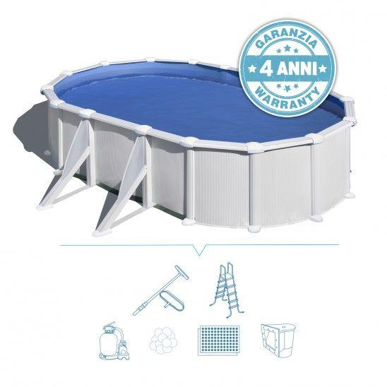 Piscina Fuori Terra Ovale Atlantide 500x300 Filtro 6m3 H Con