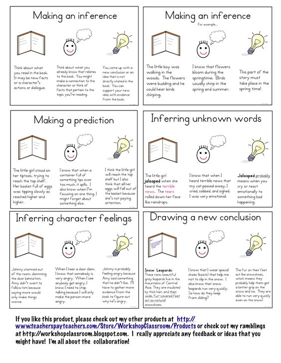 Workshop Classroom: Making Inferences | School Ideas | Pinterest ...