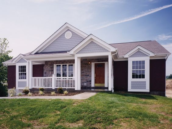 Ranch homes exterior colors and country on pinterest - Country home exterior color schemes ...
