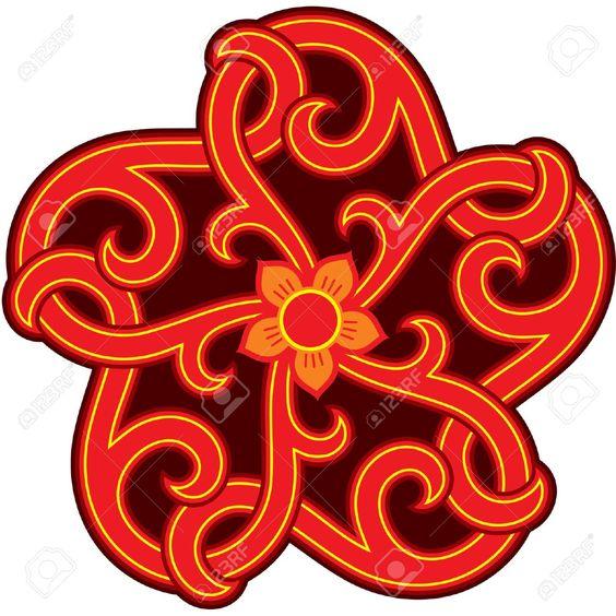 Oriental Diseño Elemento Estrella (Rosette) Ilustraciones Vectoriales, Clip Art Vectorizado Libre De Derechos. Image 10762933.