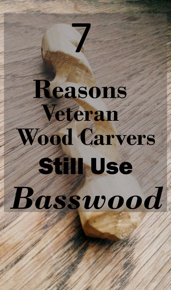 Basswood is the most popular softwood used among beginner and veteran wood carvers for a wide range of reasons that include: affordability, convenience, better for knives, and more!