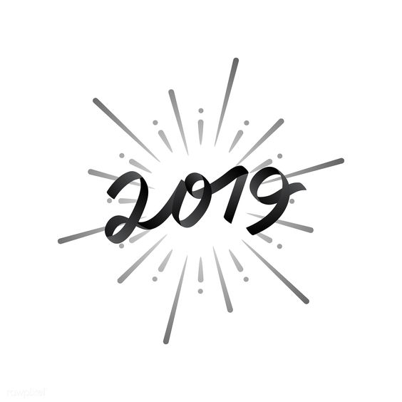 Happy new year 2019 badge vector | free image by rawpixel.com / NingZk V.