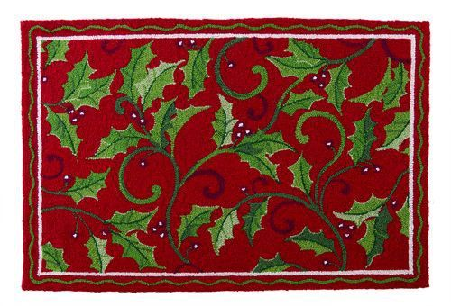 Christmas Rugs Holly Splendor Christmas Kitchen