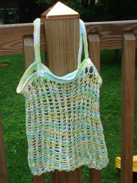 Knit Market Bag Pattern : Bag patterns, Loom knit and Market bag on Pinterest