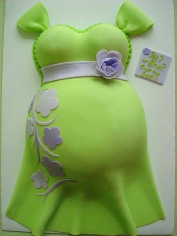 A tasteful belly cake: