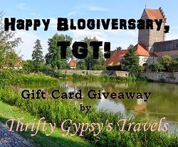 Come celebrate our blogiversary with a giveaway!