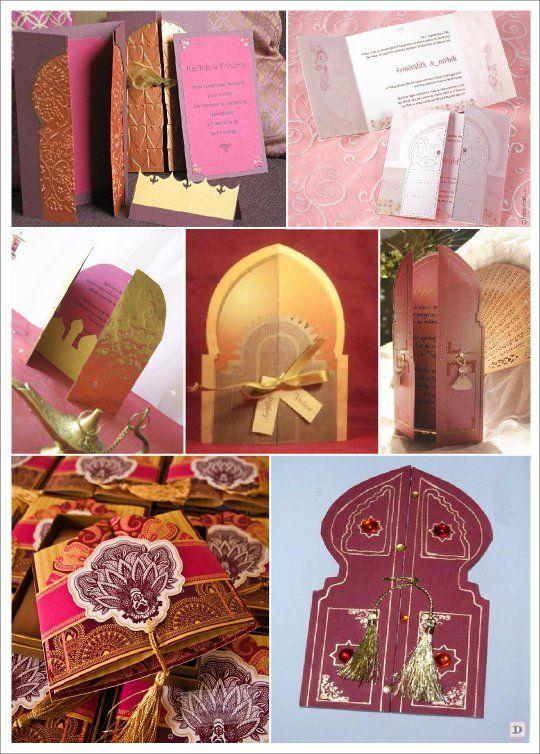 faire part mariage oriental maroc portes palais 1001 nuits