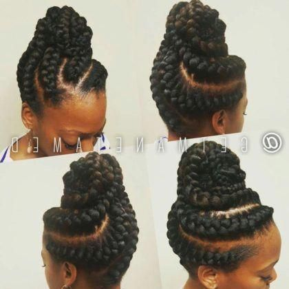 35 Goddess Braids With Weave Hairstyles In 2019 Summer Braids Goddess Braids Hairstyles Goddess Braids Updo Braids With Weave