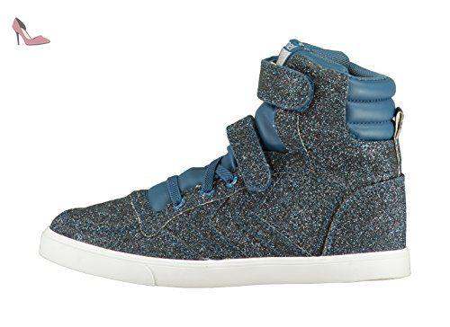hummel Slimmer Stadil Smooth Canvas, Sneakers Hautes Mixte Adulte, Rouge (Sassafras), 40 EU