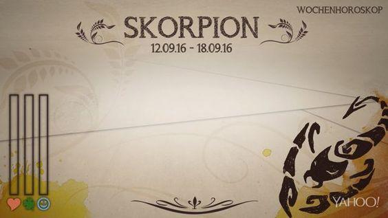 Wochenhoroskop: Skorpion (KW37 - 2016)