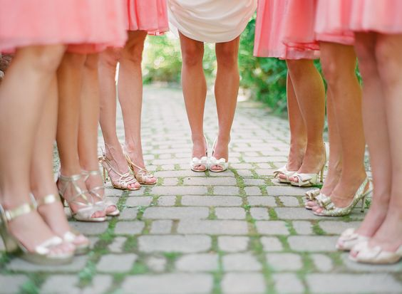 Pretty in Pink Bridesmaid's by Christina Blanarovich www.zenphotog.com #ZP #ZenPhotography #bridalparty #pinkbridesmaids #pinkbridalparty #bridesmaidsheels #filmlove #weddings #pinkweddings: