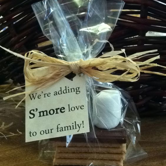 Baby Shower Favors - could be adapted to say something cute for a wedding                                                                                                                                                      More