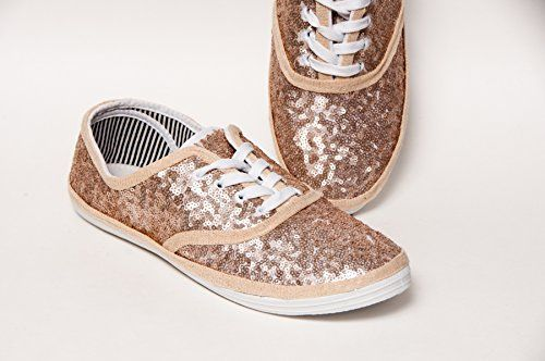 Womens Starlight Black Sequin Canvas Oxford Sneakers
