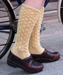 Endymion by Cirilia Rose. Chic cables and beaded cuffs create some fancy footwork. Free pattern from Twist Collective!