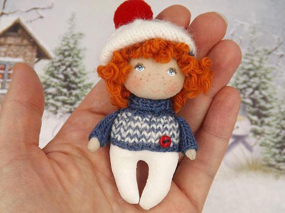Cute mini sailor boy doll fabric dollhouse miniature doll