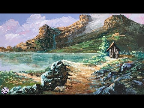 Easy Landscape Painting Step By Step Painting Tutorial How To Paint La Easy Landscape Paintings Landscape Paintings Landscape Scenery