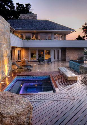 Pool patio landscape design services from ZEN Associates