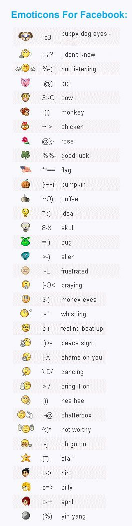 Funny #emoticons for #Facebook