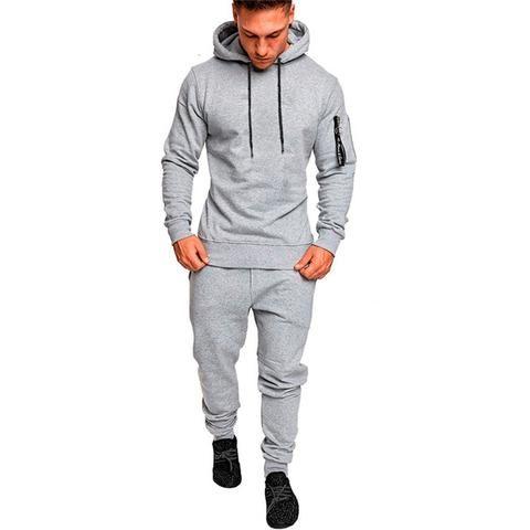 Mens Jogging suit Tracksuit Long Sleeve Sweat Shirt Bottoms Jogger Top Fleece