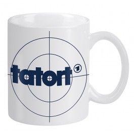 """Die Tasse zur Sendung in der ARD """" TATORT"""" http://www.fernseh-shop.com/tatort-tasse-weiss.html"""