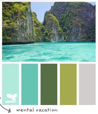 Tropical colours for a paint scheme inspiration for Tropical paint schemes