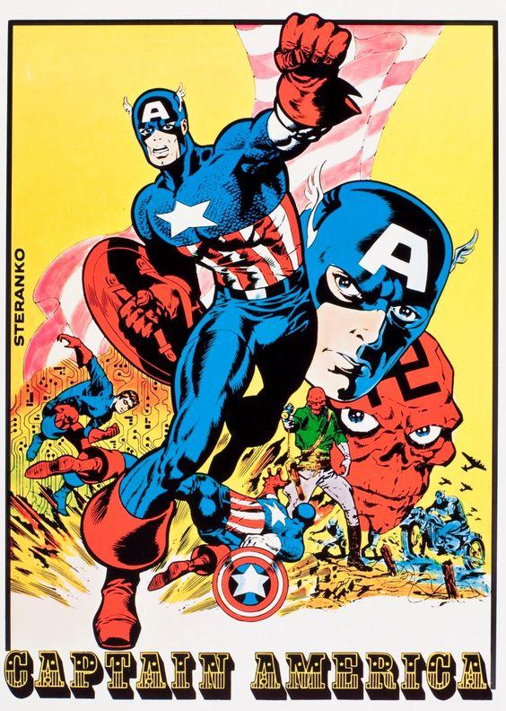 Captain America poster, by Steranko