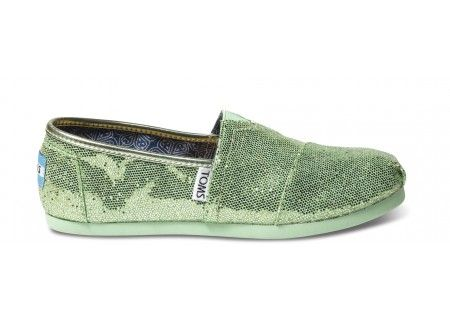 Mint Youth Glitters | TOMS.com: Youth Glitters, Mint Glitters, Kid Shoes, Glitters Green, Glitter Toms, Glitters Toms, Glittery Green, Green Toms, Mint Youth