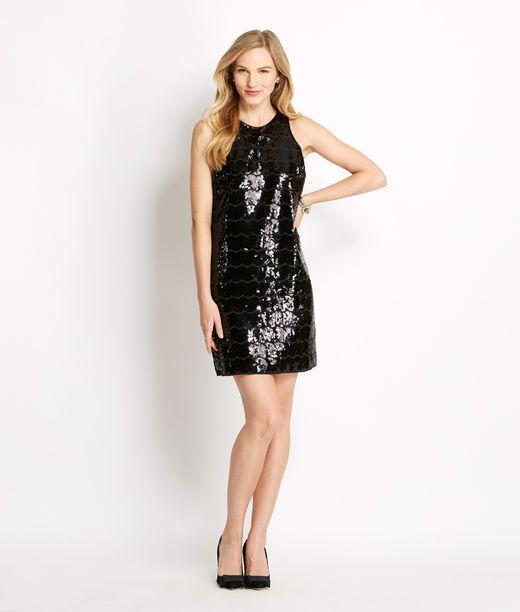 Shimmering Vineyard Vines Glitter Sheath Dress