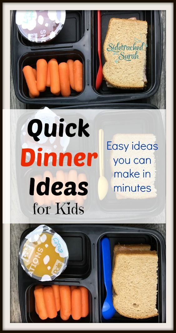 Looking for some Quick Dinner Ideas for Kids?  Try out some of the ideas on this list!  #MixInImagination, #IC #ad via @SidetrackSarah