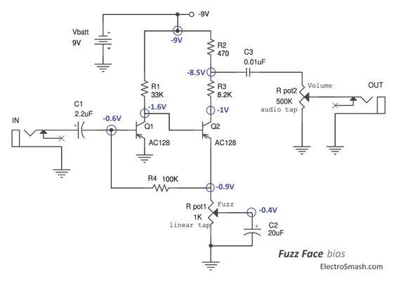 fuzz face bias circuit diy electronics pinterest guitars and  ug munity jimi hendrix fuzz face wiring diagram