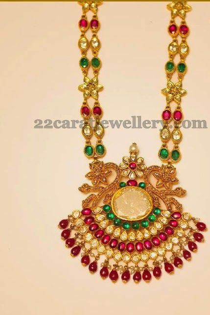 jewellery designs gemstones two layers necklace ruby