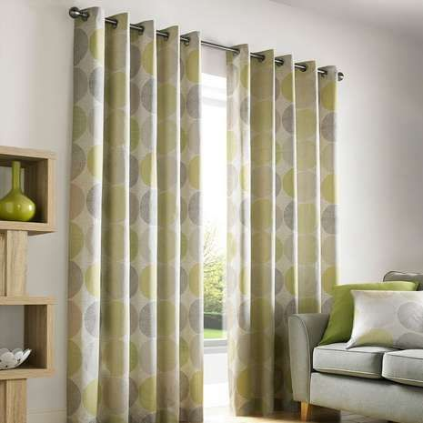 Green Curtains black and green curtains : Crafted from 100% cotton and featuring a circular geometric ...