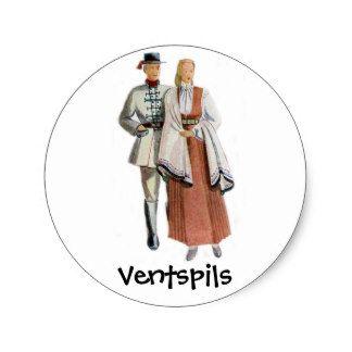 Etiqueta regional letão do traje adesivo
