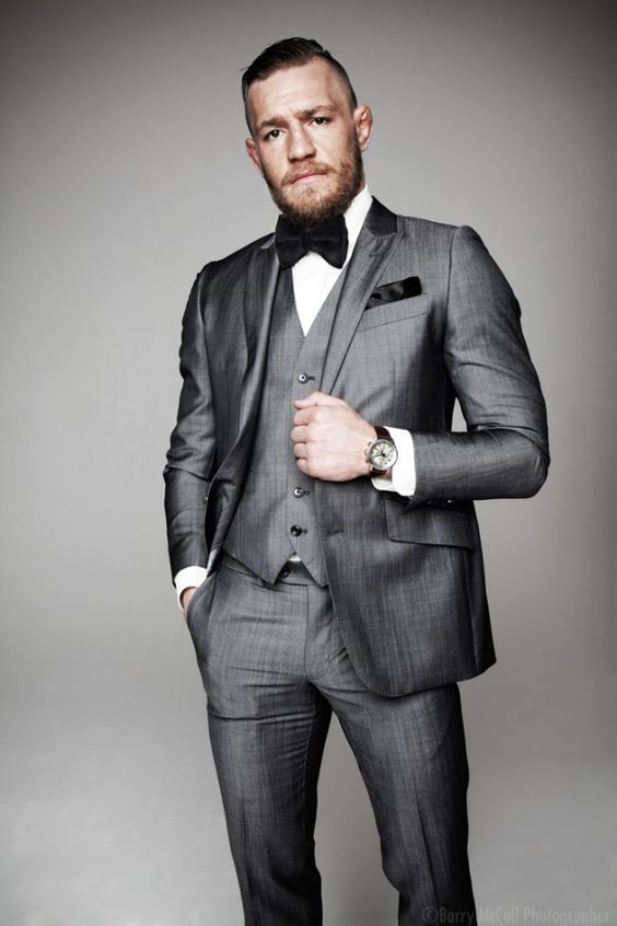 proud irish fighter conor mcgregor in expensive suit if. Black Bedroom Furniture Sets. Home Design Ideas