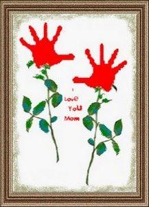 Valentine handprints valentine-s-day