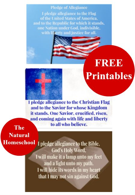 Pledge of allegiance, Christian flag and Free printables ...
