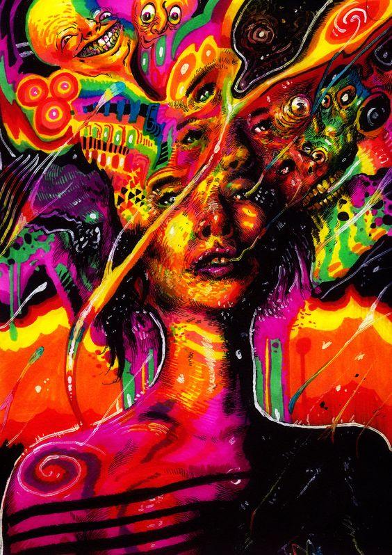 trippy bongs and wall murals on pinterest