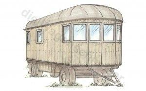 Konzept:  Ein alter Möbelwagen mit neuem Gesicht.