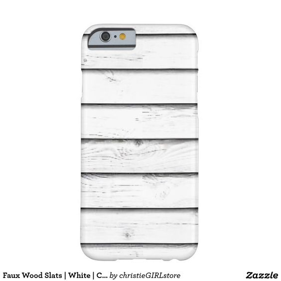 Faux Wood Slats | White | Customizable Barely There iPhone 6 Case