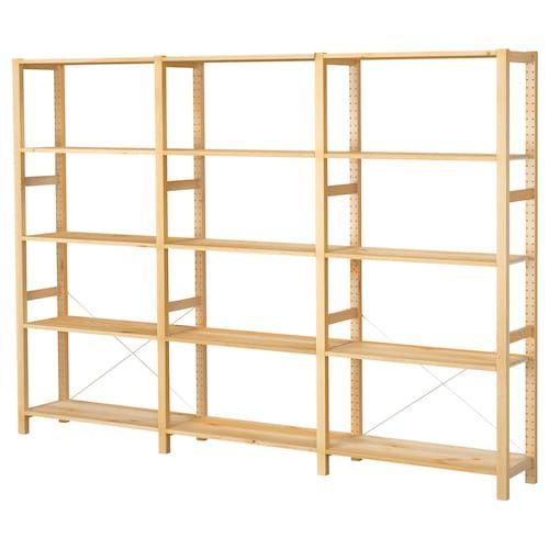 Ivar 4 Section Shelving Unit Pine 135 3 8x11 3 4x89 Ikea Ivar Shelves Ikea Catalog