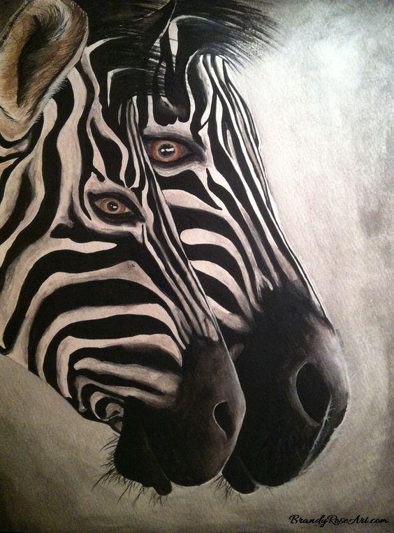 Watercolor Zebra Painting | Zebras Watercolor Painting